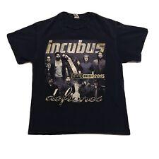 Incubus & Deftones 2015 Concert T Shirt Mens Size Large