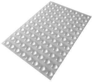 96 Clear Self Adhesive Domed Rubber Feet, Bumper Stops for Furniture, Cabinets