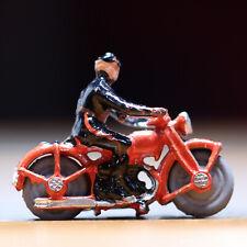 """Vintage Metal Toy Miniature Police Motorcycle 1.25"""""""