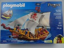 Playmobil 5678 Red Serpent Pirate Ship Playset Model 74Pcs Factory New Sealed