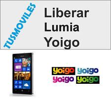Liberar Nokia lumia Yoigo 610 710 810 500 600 700 800 520 525 620 720 820 920