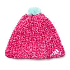 adidas Accessories Climaheat Womens Girls Wool Crochet Beanie Pink M66840  U111 c5e6f469a3d2