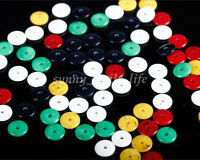 Wholesale 100Pcs Charm Flat Round Resin Spacer Loose Beads DIY Jewelry Making