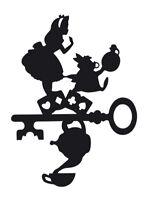 Alice in Wonderland Key Vinyl Decal , Car / Window Sticker , FREE Shipping
