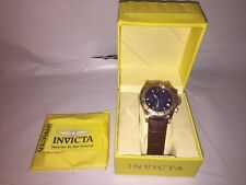 Invicta Mens Dragon Lupah 1724  Chronograph Stainless Steel Leather Strap Watch