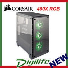 Corsair ATX Crystal Series 460X RGB Black Case (No PSU) PN CC-9011101-WW