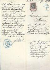 Fiskaldokument 1890 - K.u.K.Monarchie - Roznau / Roznove mit 15 Kr.Stempelmarke