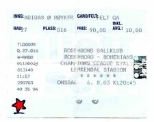 Ticket EC Rosenborg Trondheim - Bohemians Dublin 06.08.2003