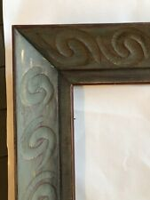 16 X 20 Carved Wood Picture Frame Abstract Art Modernist Painting Mid Century