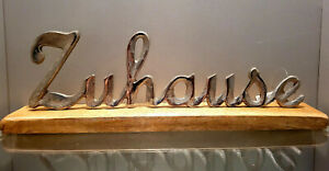 Home Lettering Mango Wood Metal Wood Silver Trend Decorative Gift Stands