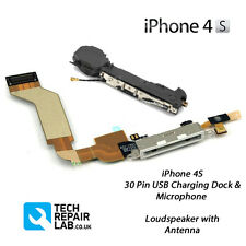 NEW Replacement iPhone 4S Charging Dock/Port + Microphone & Loudspeaker - WHITE