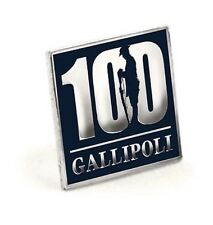 Gallipoli Centenary Solid Square 100 Lapel Pin* NEW 2015 ANZAC Day