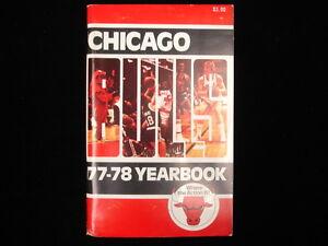 1977-78 Chicago Bulls NBA Basketball Yearbook