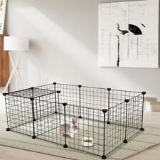 Portable Metal Dog Playpen Crate Fence Pet Puppy Play Pen Exercise Cage Us
