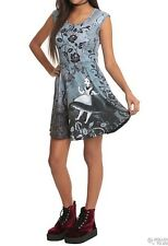 NWT Disney Alice In Wonderland Falling Gothic Art Dress Size Large