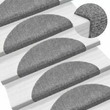 vidaXL 15x Self-adhesive Stair Mats Needle Punch 54x16x4cm Light Grey Rugs