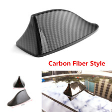 Carbon Fiber Style Car Exterior Roof Shark Fin Shape Adhesive Decorative Antenna