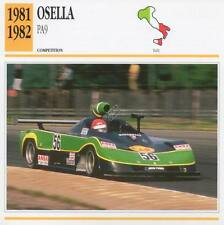 1981-1982 OSELLA PA9 Racing Classic Car Photo/Info Maxi Card