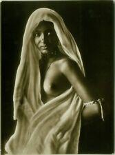 NUDE BLACK WOMAN GREAT REAL PHOTO POSTCARD C.1920 RPPC RISQUE - N.24 (BG593)