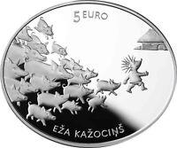 Lettland 5 Euro Silbermünze Hans mein Igel 2016 Lettische Märchen im Etui