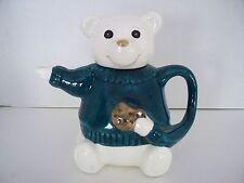 White Teddy Bear Polar Bear Theme Mini Teapot Children Animals