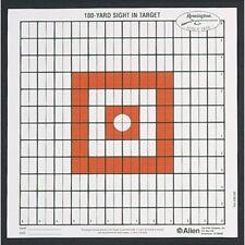 Allen 1520 Orange Remington Grid Sight-In Shooting Rifle Pistol Range Targets
