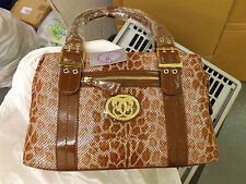 Croco Embossed Leather Shoulder Bag by Sharif New
