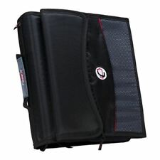 """2"""" Zipper Binder With Removable Tab File, Black"""