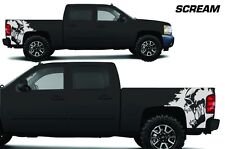 Vinyl Decal SCREAM Wrap Kit for Chevy Silverado Truck 1500/2500 2008-2013 WHITE