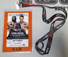 Fedor Emelianenko Signed Personal Friend Bellator 138 VIP Ticket Pass PSA/DNA 1