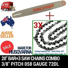 "20"" BAR+3 CHAIN FIT HUSQVARNA CHAINSAW 556-AT 570-AT 576XP-AT 390XP 395XP 3120XP"