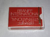 VINTAGE AIRPLANE BRANIFF INTERNATIONAL  DECK  SOUVENIR PLAYING CARDS UNOPENED