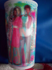 Lot of 2 holographic HIGH SCHOOL MUSICAL CUPS Glasses TUMBLER  cup NEW