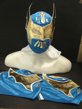 LOT of 3 SIN CARA BLUE WRESTLING MASKS ADULT SIZE FREE SHIPPING WORLDWIDE