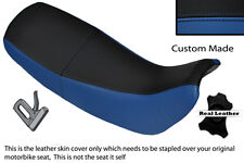 Royal blue & black custom fits honda nx 650 dominator 92-01 double housse de selle