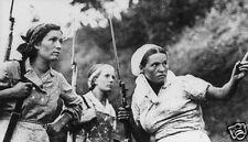 Soviet Russian Female Guerrilla Fighters Russia World War 2, 7x4 Inch Reprint