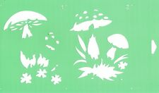 Flexible Stencil Cake Wall Airbrush Decorating Drawing Template Wild Mushrooms