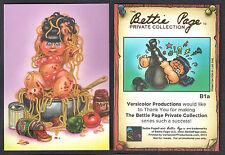 BETTIE PAGE PRIVATE COLLECTION Versicolor ALBUM PROMO EXCLUSIVE Card #B1a GPK