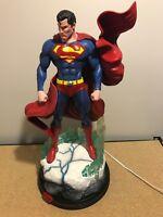 Tiger J. Customs Superman Michael Turner Statue Figure Blue Crystal Base New