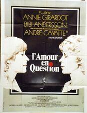 """""""L'AMOUR EN QUESTION"""" Affiche orig. André CAYATTE, Annie GIRARDOT,Bibi ANDERSSON"""