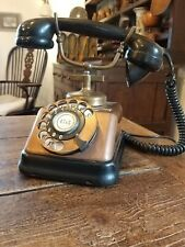 A Very Nice Antique Danish Telephone Copper Brass Bakelite To Restore