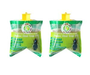 2x Fly Trap Bag Catcher Kills 20,000 Flies Insects Pest Control Killer