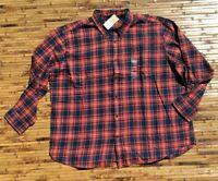 Foundry Plus Size Big Tall Mens Plaid Flannel Shirt  3XL 3XLT 4XL