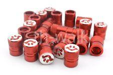 25x Red Tire Valve Stem Caps Smiley Face Dust Caps Valve Covers (V1)
