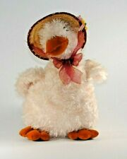 Vintage Plush Easter Goose With Hat Pink Goose Stuffed Duck 1990s