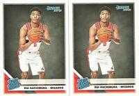 2019-20 Panini Donruss Rui Hachimura Washington Wizards #208 Rookie RC Lot of 2