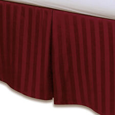 "Red Luxury Bed Skirt: 100% Egyptian Cotton, 500 Thread Count, 15"" Drop"