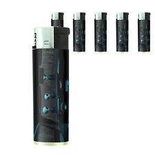 Vintage Alien Abduction D7 Lighters Set of 5 Electronic Refillable Butane