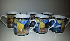 ARTIST VINCENT VAN GOGH GEAR ESPRESSO COFFEE VODKAS DEMITASSE CAFE CUPS SET OF 6