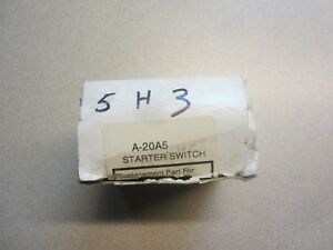 A&I Prod A-20A5 Starter Switch 70226128 70217292